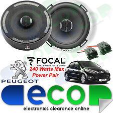 """Peugeot 207 06> Focal 17cm 6.5"""" 240 Watts 2 Way Front Door Car Speakers & 55PE02"""