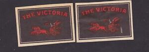 2 Anciennes étiquettes allumettes Belgique BN30165 The Victoria Char Femme aUCNkmf3-09091445-938260694