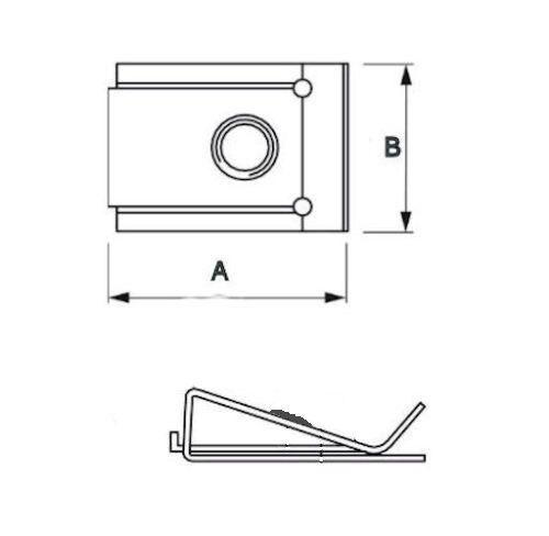 10 Stück Blechmuttern Schnappmuttern clip nuts Edelstahl A2 Ø3,9mm Klemmmuttern