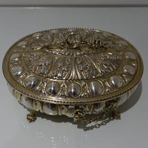 19th Secolo Antico Vittoriano Argento Sterling Nella Bara Di Londra 1884 George Fox