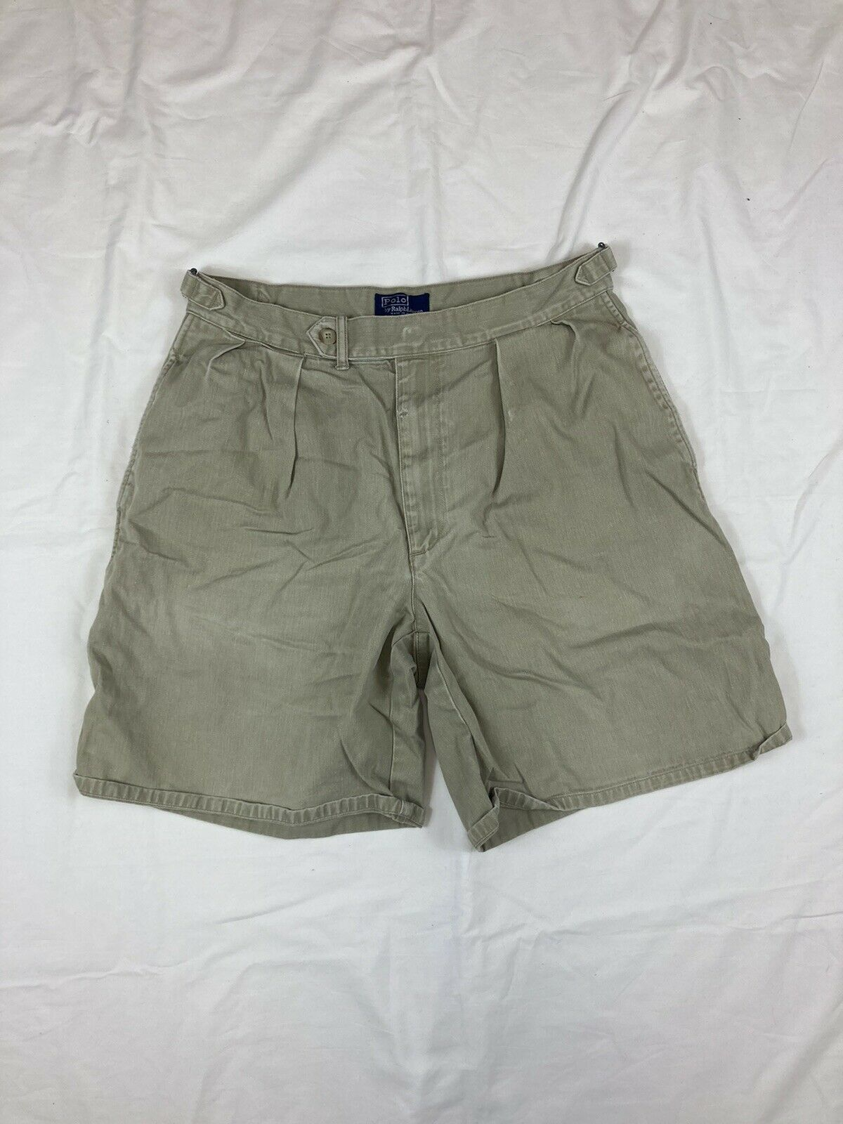 POLO RALPH LAUREN Shorts Chino Pleated 90s 80s VT… - image 2