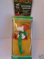 Vintage Hallmark Snoopy Peanuts Stocking Hanger