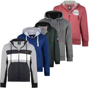 Mens-KAM-Fleece-Hooded-Zip-Up-or-Sweat-Jumper-Smart-Casual-Jacket-Big-Size-2-8XL