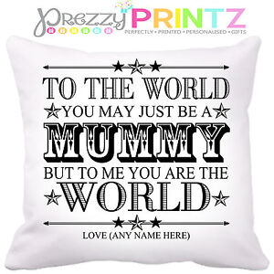 Image Is Loading PERSONALISED MOTHERS DAY GIFT CUSHION KEEPSAKE MUMMY MOM