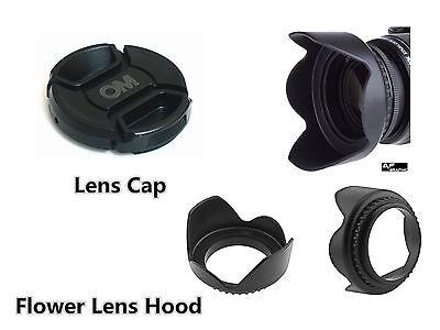 FK14a NEW 37mm Flower Lens Hood + OM Lens Cap for Olympus Digital Camera