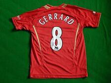 Liverpool 2005-06 Europea CALCIO HOME SHIRT GERRARD 8, Linea Uomo XS