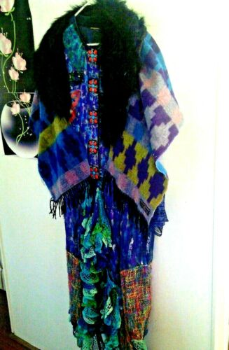 vintage Hand Painted-coat patchwork jacket Boho JE
