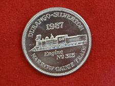 /& R.G. Vintage 1979 Durango Silverton Narrow Gauge Train CollectorCoin D