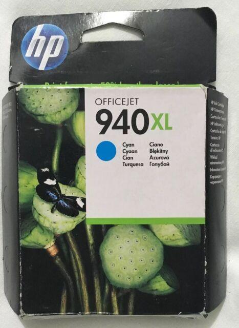 Genuine OEM HP 940XL Ink Cyan C4907AE 2016 Genuine Ink Imported In Retail Box