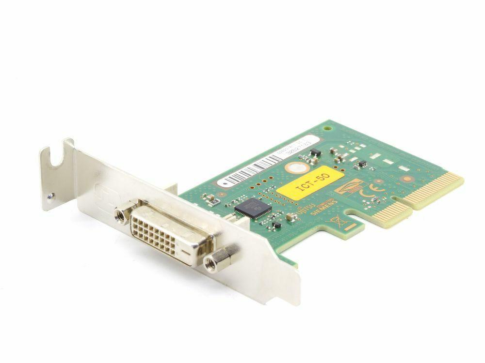 Fujitsu-Siemens D2823-A11 Pcie DVI Graphics Adapter Add Card ICT-50 Low Profile