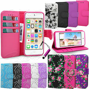 For-Apple-Ipod-Touch-5-6-Gen-Wallet-Leather-Case-Flip-Cover-Screen-Guard