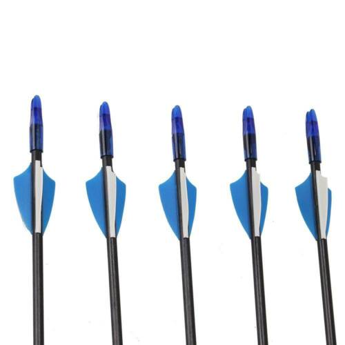 "12 X 30/"" Fibreglass Field Point Archery Arrows Compound Or Recurve Black /& Blue"