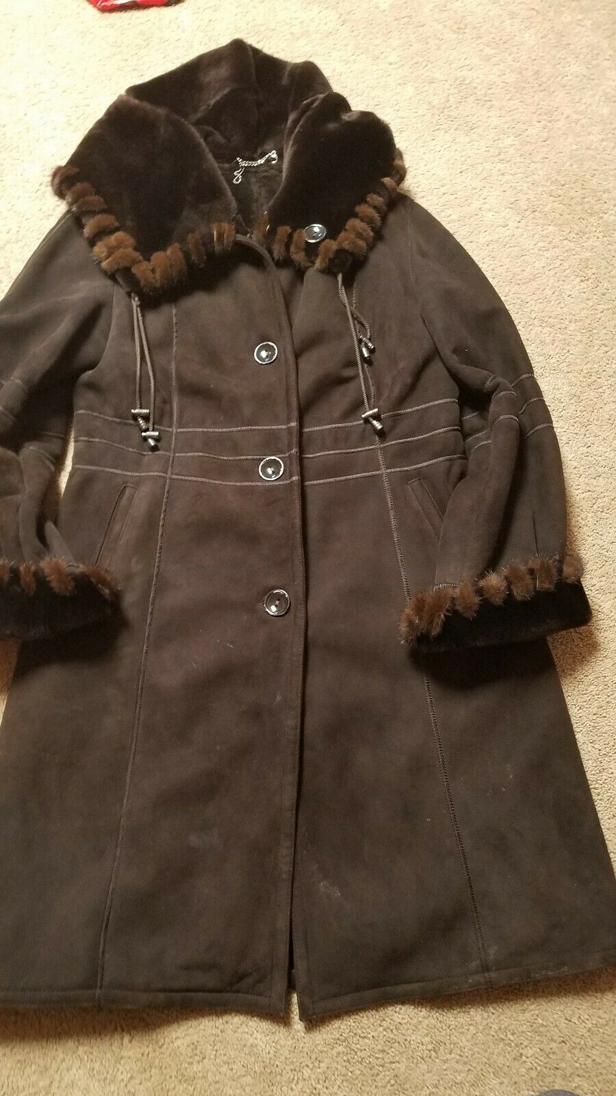 HARLIN  Shearling  Women's Leather Coat XL