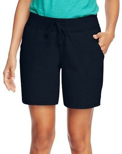 Size S-2XL 4 COLOR CHOICES Hanes Women/'s Cotton Jersey Shorts with Pockets