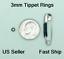 Tippet-Rings-3mm-Salmon-Steelhead-Fly-Leader-Tippet-Ring-Black-Nickel-FREE-SHIP thumbnail 1