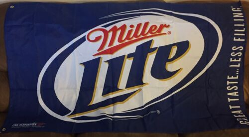 Miller Lite Beer Flag-Banner 3/' x 5/' New in Plastic  Great for Man Cave!!!!!!