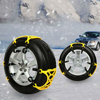 6pcs/set Car Snow Tire Chains Ice/sand/mud Anti-skid Belt Chains Universal Sizes