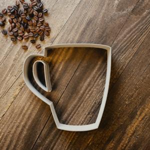 Coffee Mug  Cookie Cutter 3 Sizes Tea Fondant