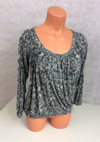FREE PEOPLE Boho Peasant Top Rayon Womens XS
