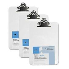3 Mini Clipboards Sparco Transparent 6 X 9 Plastic Clear