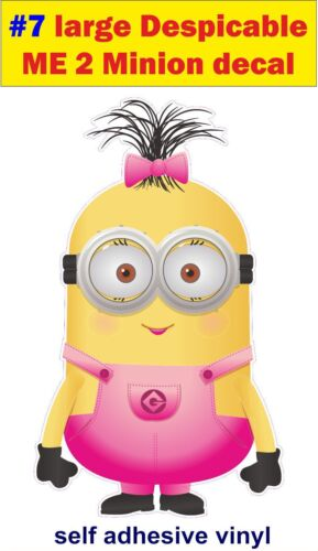 N7 LARGE Despicable me 2 minions Funny Decal sticker car vw van jdm kids bedroom