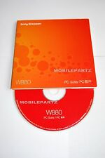 GENUINE SONY ERICSSON W880i CD SOFTWARE DISK - PC SUITE XP COMPATIBLE