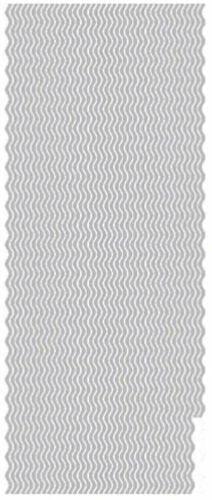 Pack of 2 Peel Offs Gold and Silver Wavy Borders