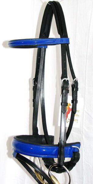 FSS patente Royal Benetton Azul Azul Azul Brillo Confort Acolchado Poll Doma Brida W riendas ee67d2