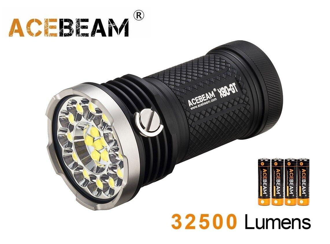 NUOVO Acebeam X80GT 18x CREE XHP50.2 32500 LUMEN Torcia LED CON 4x 18650