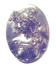 HUGE Antique HENRYK WINOGRAD Primavera ART NOUVEAU SILVER 999  PENDANT/PIN