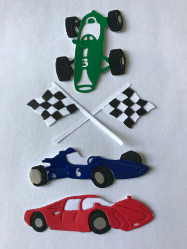 Racing Driving F1 Cars Voiture Drapeau Formule Un fête des pères Die Cuts