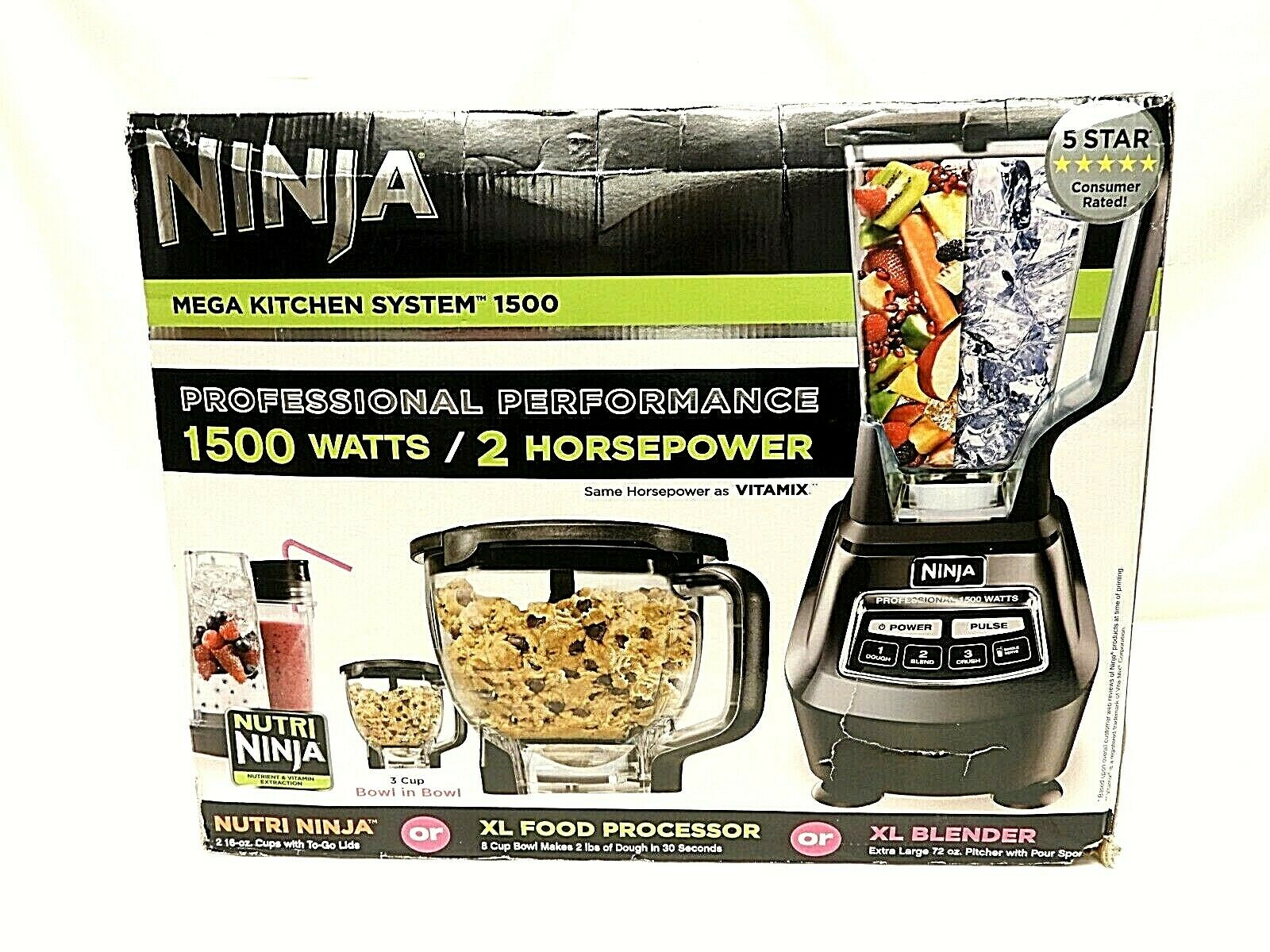 NINJA MEGA KITCHEN SYSTEM BL771 30 1500 WATT PROFESSIONAL PERFORMANCE *