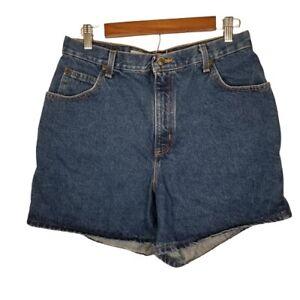 Zena-Missy-Size-14-Dark-Wash-Vintage-High-Rise-Denim-Shorts-Mom-Jeans