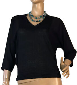HOSS-INTROPIA-SIZE-S-BLACK-KNITTED-TOP
