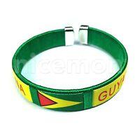 Guyana Guyanese National Flag Bracelet Wrist Threaded Bracelet Cuff 1sz