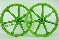 Skyway Bmx 24 Tuff Wheels Cruiser Mags In Green Sealed Bearing Hubs Usa Made