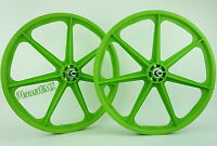 Skyway Bmx 24 Tuff Wheels Cruiser Mags In Green Sealed Bearing Hubs Usa Made