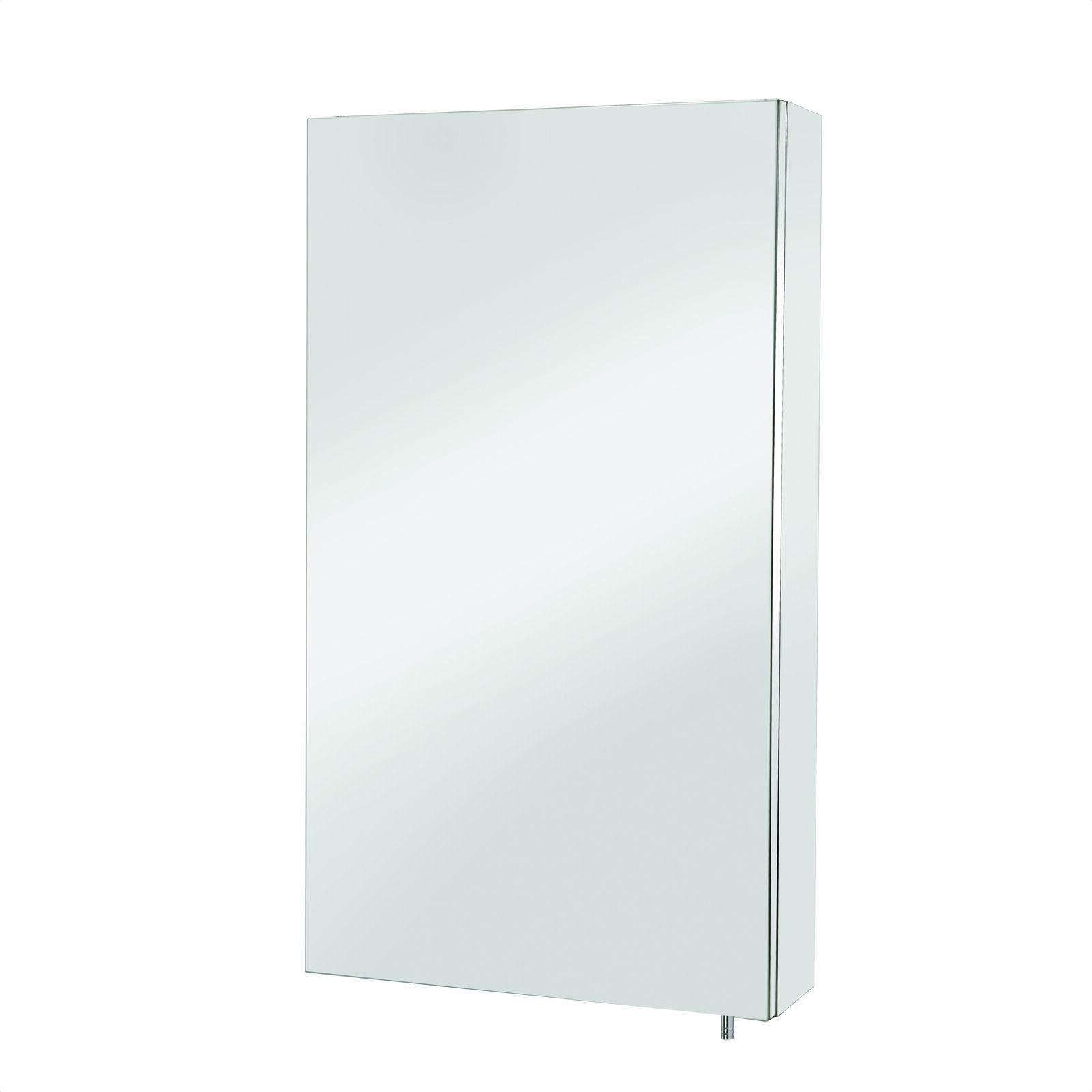 Croydex Anton Bathroom Mirror Cabinet Single Door Stainless Steel WC736005