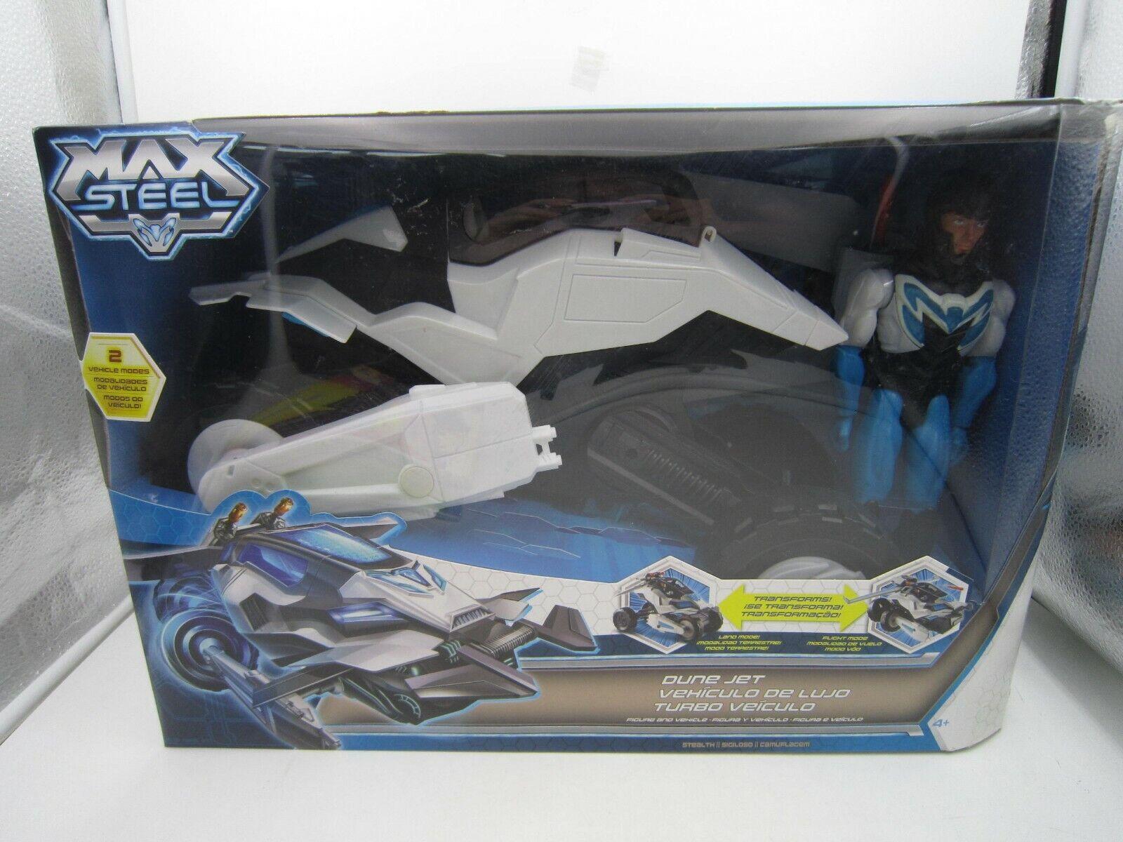 Max Steel Figura de Acción 2013 transformar Duna Jet & Vehículo Set Mattel