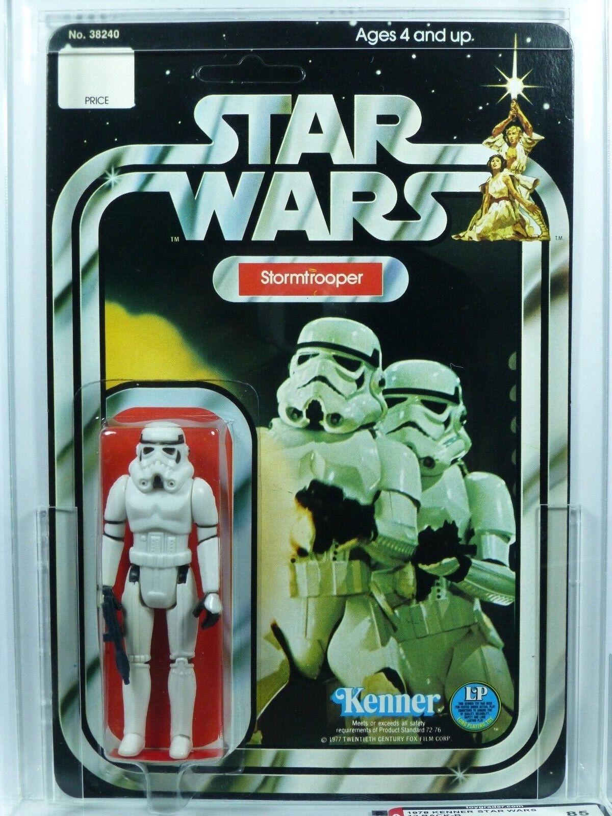 Star Wars Kenner 12-B Stormtrooper Figure MOC AFA 85 Unpunched.