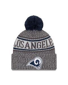 c2d3ce2712a Los Angeles Rams New Era 2018 NFL Sideline Sport Knit Hat – Graphite ...