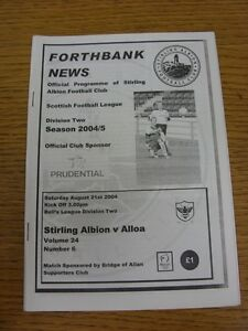 21-08-2004-Stirling-Albion-v-Alloa-Athletic-the-item-is-in-good-very-good-cond