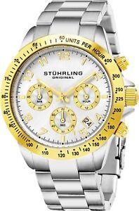 Stuhrling-Men-039-s-Japanase-Quartz-Chronograph-Stainless-Steel-Bracelet-Watch-665B