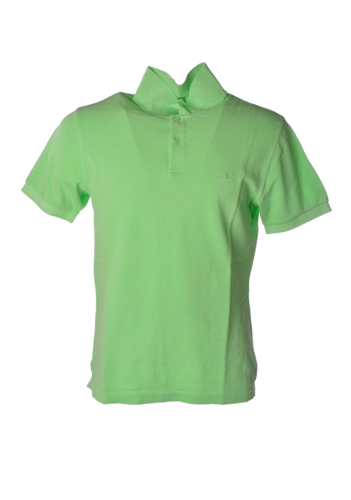Sun 68 - Topwear-Polo - Man - Green - 4926406C194837