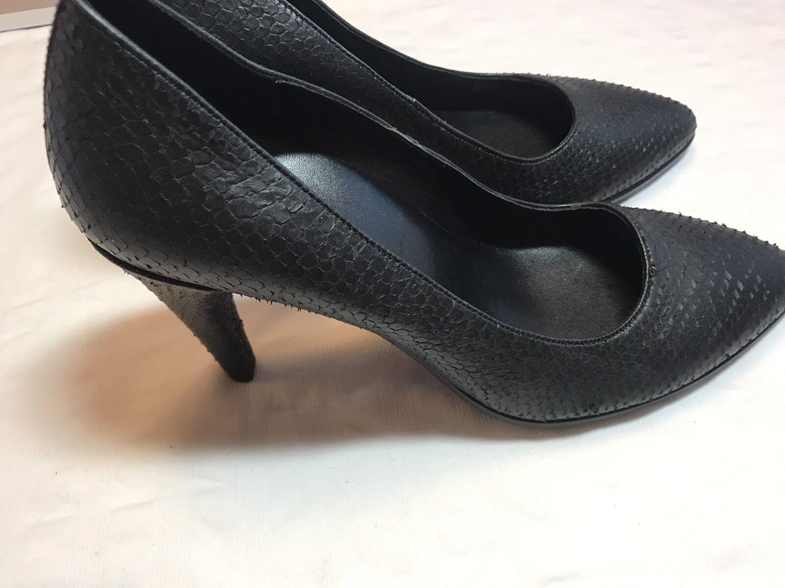 ECCO Danish Design Heels Heels Heels Snakeskin Round Toe Heels EU 39 schwarz  14 69b889
