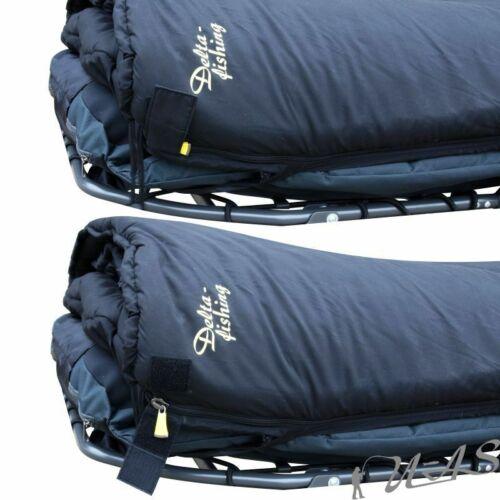 DELTA FISHING 5 Season Luxus Schlafsack Fleece Hohlfasern 4 Schichten /& Gurt Sha
