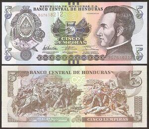 Honduras 5 Lempiras 2012 Unc P 91 D Jn0ths3f-07214603-647773627