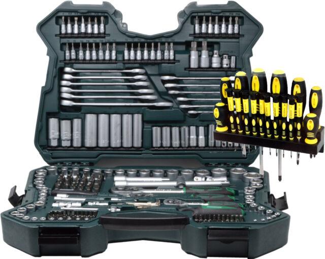 Mannesmann Werkzeugkoffer Steckschlüsselsatz 215 tlg teilig Werkzeugkasten Neu