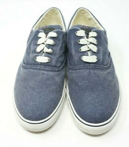 LL-Bean-Sunwashed-Canvas-Denim-Blue-Sneakers-Walking-Tennis-Shoes-Size-8-5