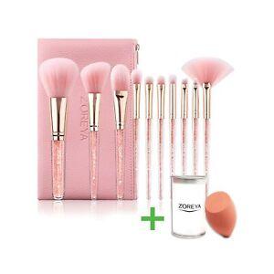 highend makeup brushes crystal handle makeup brush set